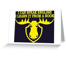 I Can Speak English, I Learn It From a Book Greeting Card