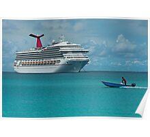 Half Moon Cay Ship and Boat Poster