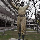 Jackie Robinson Statue, Journal Square, Jersey City by lenspiro