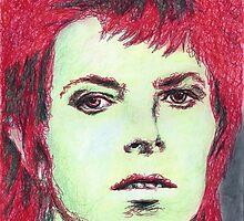David Bowie Portrait by Brooke Donlan