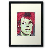 David Bowie Portrait Framed Print