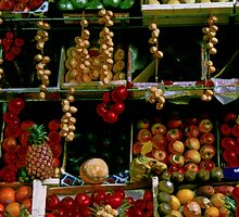 Parisian Fruit Market Display by Tom Wurl