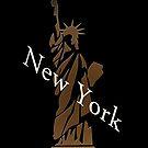 The Statue of Liberty New York Design by Val  Brackenridge