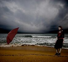 Red Umbrella IV by Bogac Erguvenc
