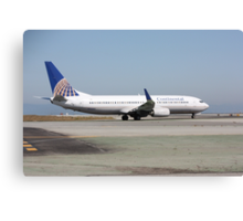 Continental Airlines Boeing 737 Canvas Print