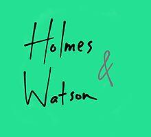 Holmes and Watson by shezzaswatson