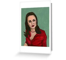 Enemies - Faith - BtVS Greeting Card