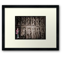 It's always the quiet one in the corner... Framed Print