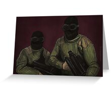 The Initiative - Commandos - BtVS Greeting Card