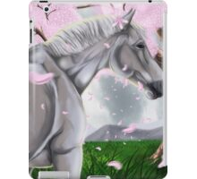 Horse Cherry Blossoms  iPad Case/Skin