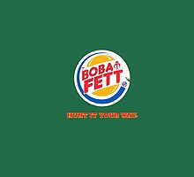 Boba Fett Star Wars Hunt Your Way Quirky BK Bounty by MagicCase