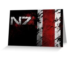 Mass Effect N7 distressed Greeting Card