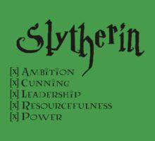 I'm a Slytherin by goshcas