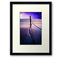 Pole in Water Framed Print
