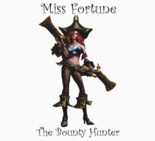Miss Fortune - The Bounty Hunter League Of Legends (Black Text) by RogueMegatron
