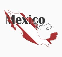 Mexico Diving Diver Flag Map Kids Clothes