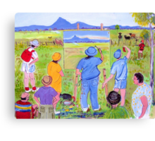 En Plein air... or pesky sticky beaks , or , It won't win the Archibald though will it! Canvas Print