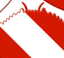 Crab Scuba Diver Silhouette Sticker