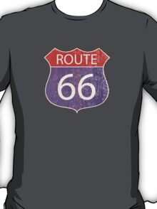 Route 66 Road Sign T-Shirt