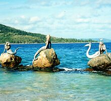 Three Mermaids, Daydream Island, Queensland by Catherine C.  Turner