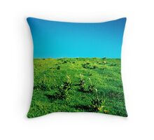 a field of lilies Throw Pillow