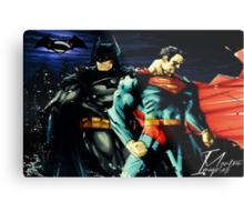 Superman VS Batman   Metal Print