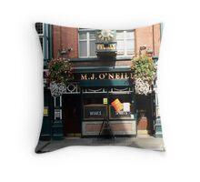 M.J O'Neill's Pub Throw Pillow