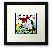 Checkers Cancer Framed Print