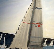 WILD OATS winner of the Sydney to Hobart Yacht race 2008 by gillsart