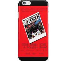 """Code Name: King""  - ALTERNATE Comic Book Promo Poster  iPhone Case/Skin"