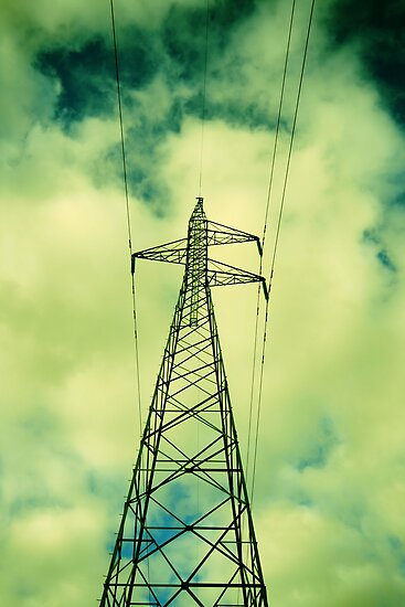 Green Power Lines by Ross Jardine