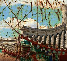 Grunge Chinese Pagoda by Ross Jardine