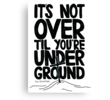 Gaz Brookfield - Thin Canvas Print