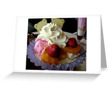 Ice Cream and Fruit Greeting Card
