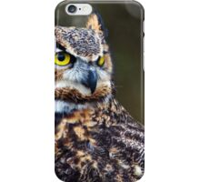 Great Horned Owl Close Up iPhone Case/Skin