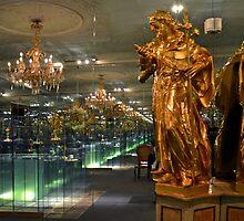 Reflections in the abbey of Melk - Austria by Arie Koene