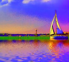 Afternoon sail by Wendy Mogul