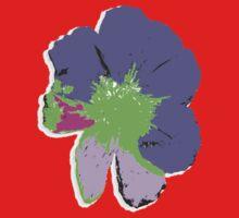 Color Splash Pop Art Flower by Rebekah  McLeod