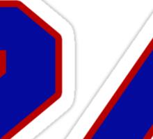 NFBS0129 National football player Jamal Willis jersey 24 Sticker