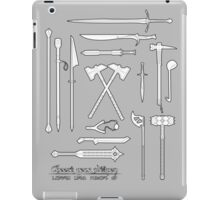 The Weapons of the Company - Black and White iPad Case/Skin