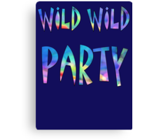 Wild Wild  Party Colorful Canvas Print