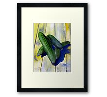As cool as a cucumber Framed Print