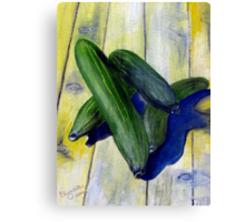 As cool as a cucumber Canvas Print