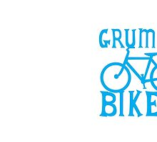 GRUMPY BIKER in blue by jazzydevil