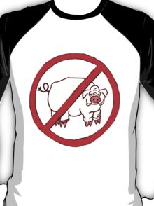 No Hogs Circle  T-Shirt