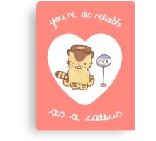 Catbus Valentine Canvas Print