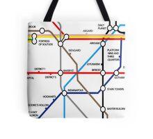 Fantasy Underground Map Tote Bag