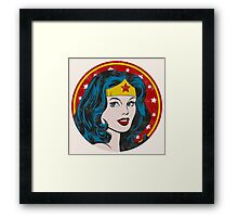 Princess Diana of Themyscira (Vintage) Framed Print