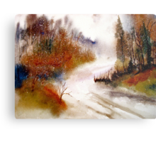 Landscape..Winter Walk Metal Print