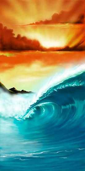 Blue Wave Sunset by ShaneMartin